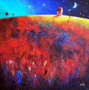 Darren Mundy Greeting Card - Dusk On Henry's Hill